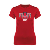 Ladies Syntrel Performance Red Tee-Rugby