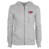 ENZA Ladies Grey Fleece Full Zip Hoodie-A State