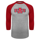 Grey/Red Raglan Baseball T-Shirt-A State