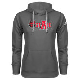 Adidas Climawarm Charcoal Team Issue Hoodie-Red Wolf Head w/A State
