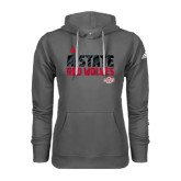 Adidas Climawarm Charcoal Team Issue Hoodie-A-State Adidas Logo