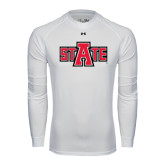 Under Armour White Long Sleeve Tech Tee-A State
