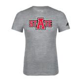 Adidas Sport Grey Logo T Shirt-A State