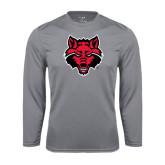 Syntrel Performance Steel Longsleeve Shirt-Red Wolf Head