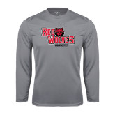 Syntrel Performance Steel Longsleeve Shirt-Red Wolves Stacked Head Centered