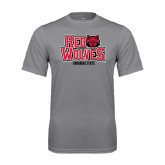Syntrel Performance Steel Tee-Red Wolves Stacked Head on Right