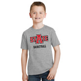 Youth Grey T Shirt-Basketball