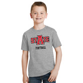 Youth Grey T Shirt-Football