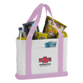 Contender White/Pink Canvas Tote-University Mark