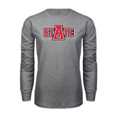 Grey Long Sleeve T-Shirt-A State