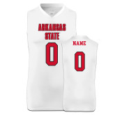 Replica White Adult Basketball Jersey-Arkansas State Jersey Decal
