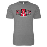 Next Level SoftStyle Heather Grey T Shirt-A State