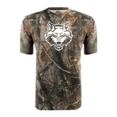 Realtree Camo T Shirt-Red Wolf Head