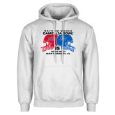 White Fleece Hoodie-Camellia Bowl Arkansa State VS Middle Tennessee