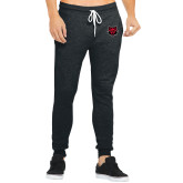 Bella Canvas Charcoal Heather Joggers-Red Wolf Head