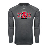 Under Armour Carbon Heather Long Sleeve Tech Tee-A State