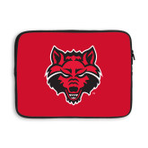 13 inch Neoprene Laptop Sleeve-Red Wolf Head
