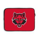 13 inch Neoprene Laptop Sleeve-Red Wolf Head