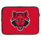 15 inch Neoprene Laptop Sleeve-Red Wolf Head