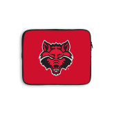 10 inch Neoprene iPad/Tablet Sleeve-Red Wolf Head
