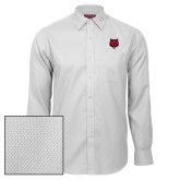 Red House White Diamond Dobby Long Sleeve Shirt-Red Wolf Head