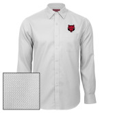 Red House White Diamond Dobby Long Sleeve Shirt-Red Wolf Head