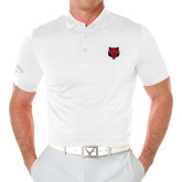Callaway Opti Vent White Polo-Red Wolf Head