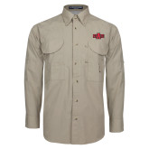 Khaki Long Sleeve Performance Fishing Shirt-A State