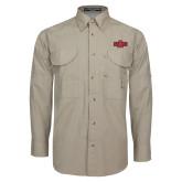 Khaki Long Sleeve Performance Fishing Shirt-A State