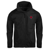 Black Charger Jacket-Red Wolf Head
