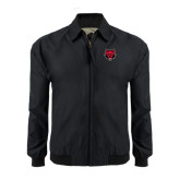 Black Players Jacket-Red Wolf Head