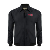 Black Players Jacket-Red Wolf Head w/A State