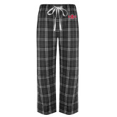 Black/Grey Flannel Pajama Pant-A State