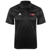 Adidas Climalite Black Jaquard Select Polo-Red Wolf Head w/A State