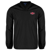 V Neck Black Raglan Windshirt-A State