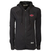 Ladies Under Armour Black Varsity Full Zip Hoodie-A State