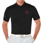 Callaway Opti Vent Black Polo-Red Wolf Head