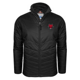 Columbia Mighty LITE Black Jacket-Red Wolf Head