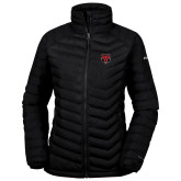 Columbia Mighty LITE Ladies Black Jacket-Red Wolf Head