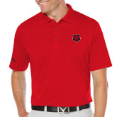 Callaway Opti Dri Red Chev Polo-Red Wolf Head