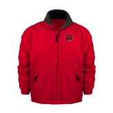 Red Survivor Jacket-Red Wolf Head