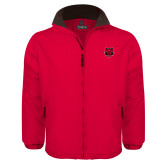 Red Survivor Jacket-Red Wolf Head