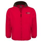 Red Survivor Jacket-Red Wolf Head w/A State