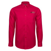 Red House Red Long Sleeve Shirt-Red Wolf Head w/A State