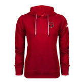 Adidas Climawarm Red Team Issue Hoodie-Red Wolf Head