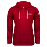 Adidas Climawarm Red Team Issue Hoodie-Red Wolf Head w/A State