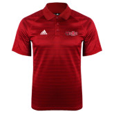 Adidas Climalite Red Jaquard Select Polo-Red Wolf Head w/A State