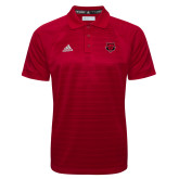 Adidas Climalite Red Jaquard Select Polo-Red Wolf Head
