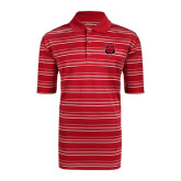 Adidas Climalite Red Textured Stripe Polo-Red Wolf Head