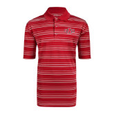 Adidas Climalite Red Textured Stripe Polo-A State